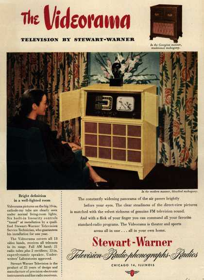 Stewart-Warner Corporation's Videorama – The Videorama Television By Stewart-Warner (1947)