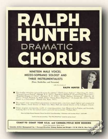 Ralph Hunter Chorus Ralph Hunter Photo Ad Music (1959)
