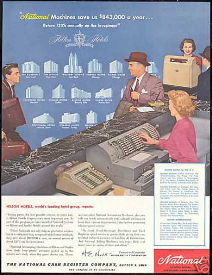 Hilton Hotels NCR National Cash Register (1956)