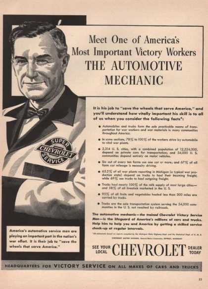 Automotive Mechanic Chevrolet Car (1942)
