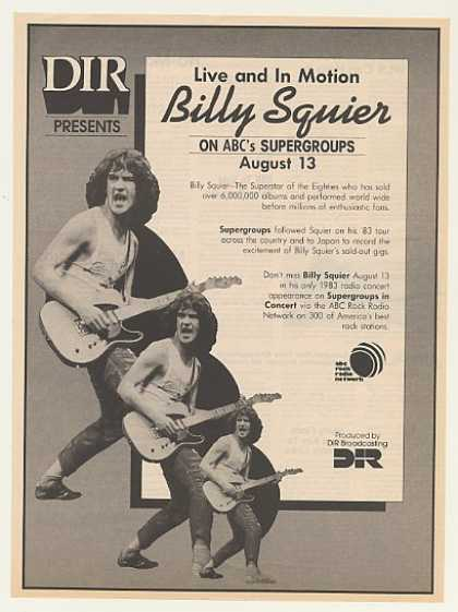 DIR Billy Squier ABC Radio Supergroups Concert (1983)