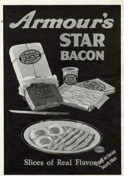 Armour's Star Bacon Antique Food (1924)