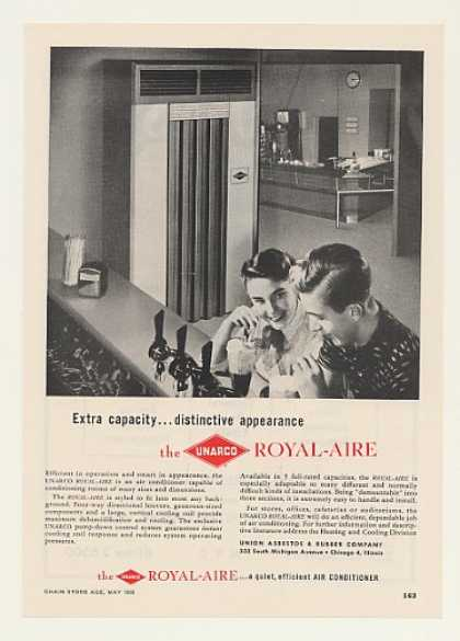 UNARCO Royal-Aire Air Conditioner Soda Fountain (1955)