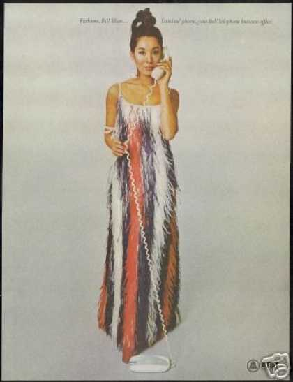 Bill Blass Dress Woman Fashion AT&T Telephone (1968)