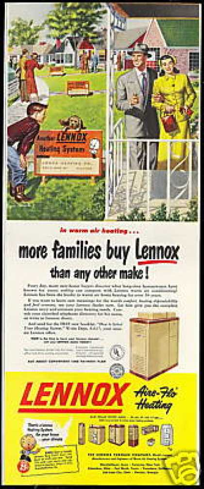 Lennox Furnace Aire-Flo Heating Vintage (1950)