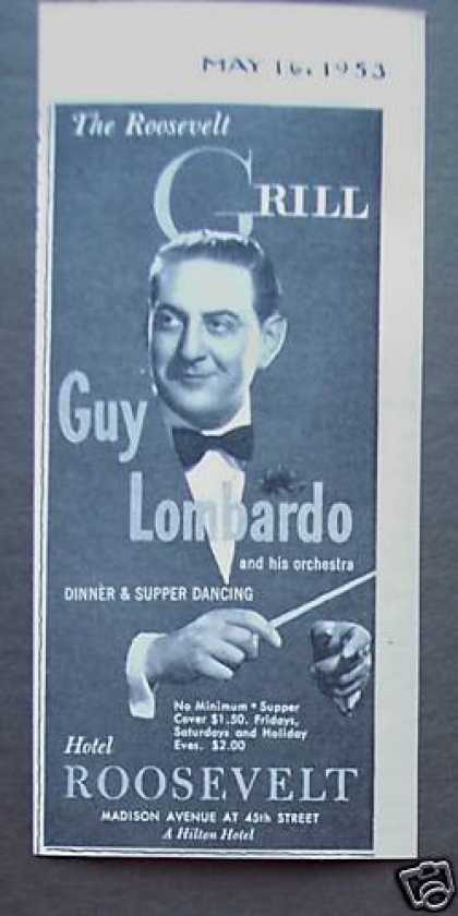 Guy Lombardo at the Roosevelt Grill Promo (1953)