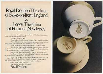 Royal Doulton vs Lenox China Cups Photo (1971)