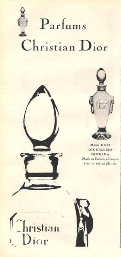 Christian Dior Parfum Bottle Print (1959)