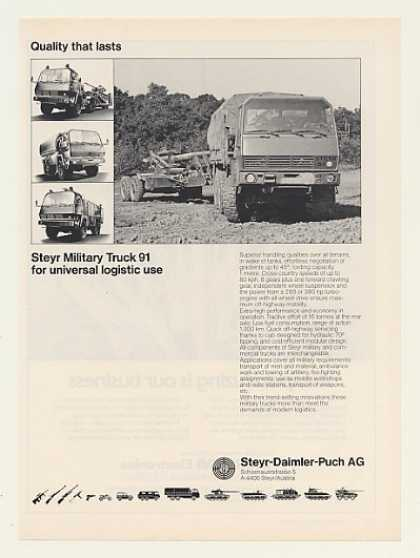 Steyr Military Truck 91 Photo (1986)