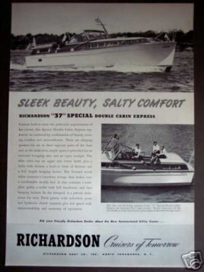 Richardson 37 Special Double Cabin Boat Yacht (1954)