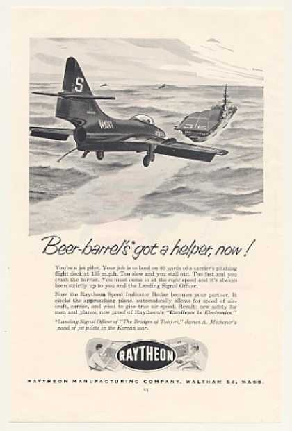 Navy Jet Carrier Landing Raytheon Speed Radar (1954)