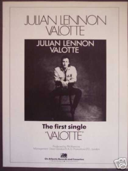 Julian Lennon Single Record Valotte Promo (1985)