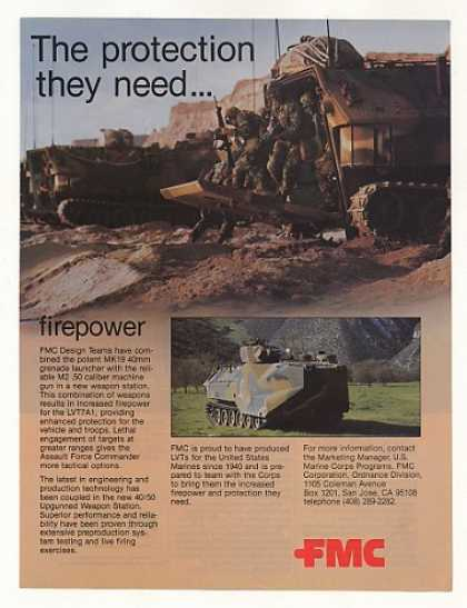 Marines FMC LVT7A1 Assault Vehicle Photo (1985)