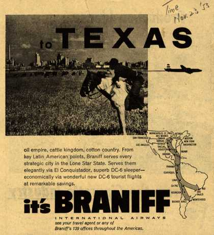 Braniff International Airway's Texas – To Texas (1953)