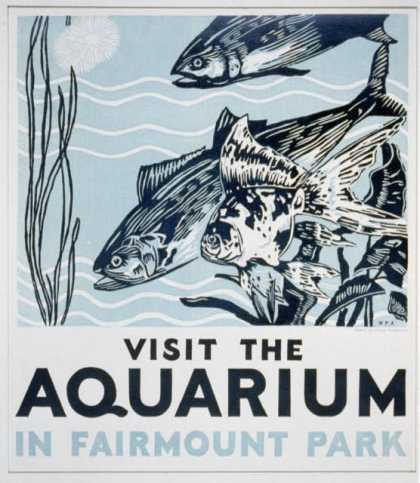 Visit the aquarium in Fairmount Park. (1936)
