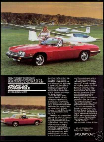 Jaguar XJ-S XJS Convertible Glider Plane Photo (1988)