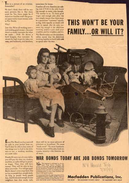 Macfadden Publication's War Bonds – This Won't Be Your Family... Or Will It? (1944)