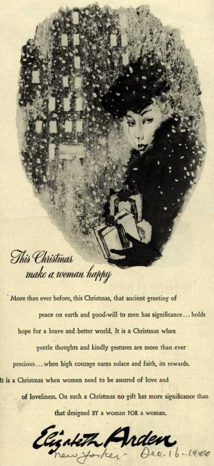 Elizabeth Arden – This Christmas make a woman happy (1944)