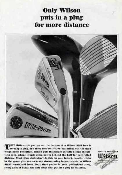 Wilson Puts In Plug for More Distance Golf Club (1965)