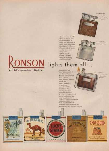 Ronson Lighter Lights Them All (1949)