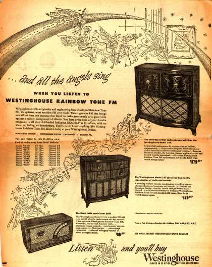 Westinghouse Electric Corporation's Various – ...and all the angels sing when you listen to Westinghouse Rainbow Tone FM (1948)