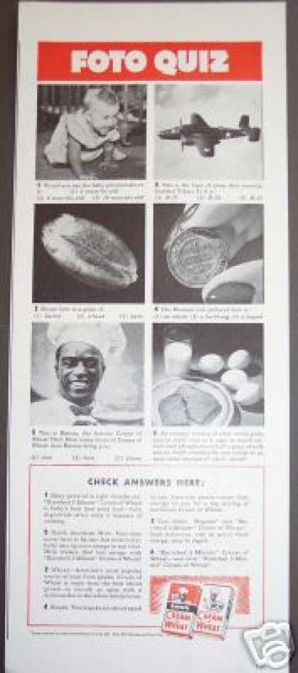 Original Chef Rastus Cream of Wheat (1942)