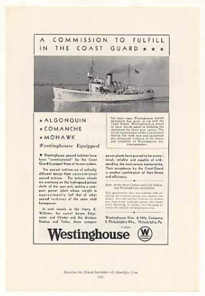 Coast Guard Cutter Algonquin Ship Westinghouse (1935)