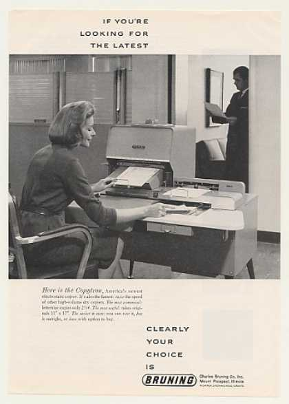 Bruning Copytron Electrostatic Copier (1963)