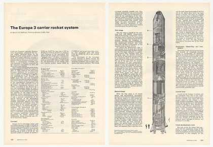Europa 3 Carrier Rocket System 3-Page Article (1972)