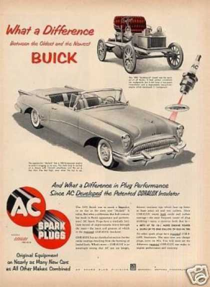 Ac Plugs Ad Buick Skylark Car (1954)