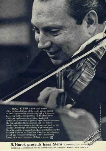 Isaac Stern Photo Violinist Nice Trade (1962)