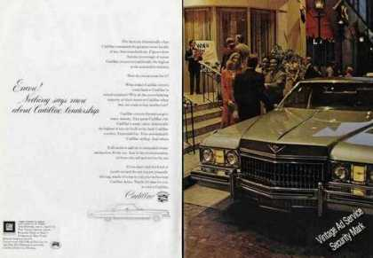 "Cadillac ""Nothing Says More About Leadership"" (1973)"