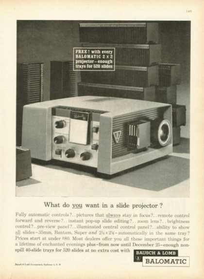 Bausch & Lomb Balomatic Slide Projector (1961)