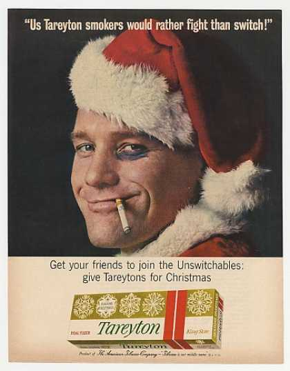 Tareyton Cigarette Santa Man Black Eye Fight (1963)