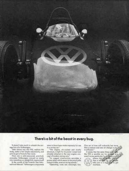 "Vw Volkswagen ""Bit of the Beast In Every Bug"" (1967)"