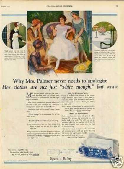 P and G White Naptha Soap (1923)