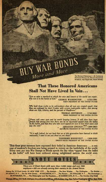 Knott Hotel's War Bonds – Buy War Bonds (1943)