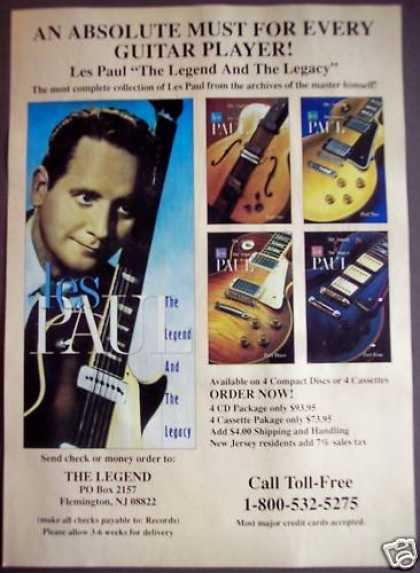 Les Paul the Legend & the Legacy Music (1992)