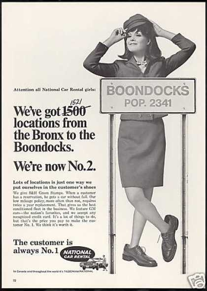 National Car Rental Girl Bronx Boondocks (1969)