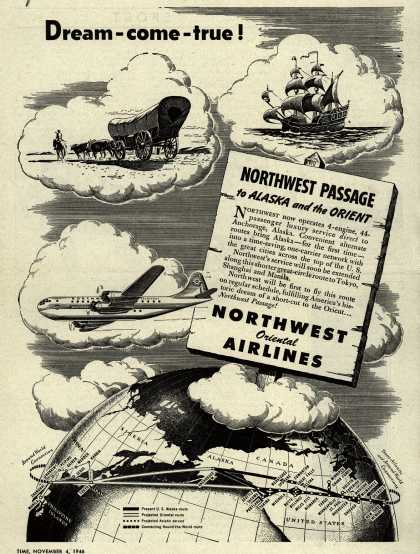 Northwest Airline's Alaska and Orient – Dream-come-true (1946)