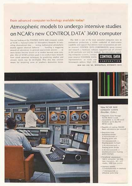 NCAR Control Data 3600 Computer System (1965)