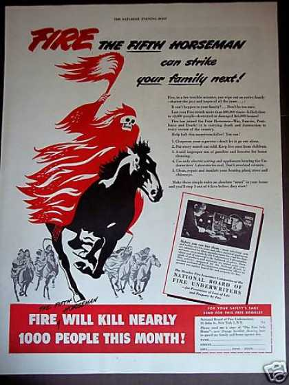 The Fifth Horseman Fire Underwriters Insurance (1948)