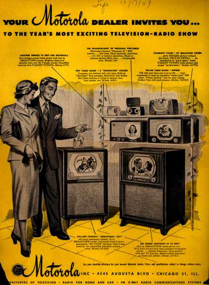 Motorola's Television – Your Motorola Dealer Invites You... To the Year's Most Exciting Television-Radio Show (1949)
