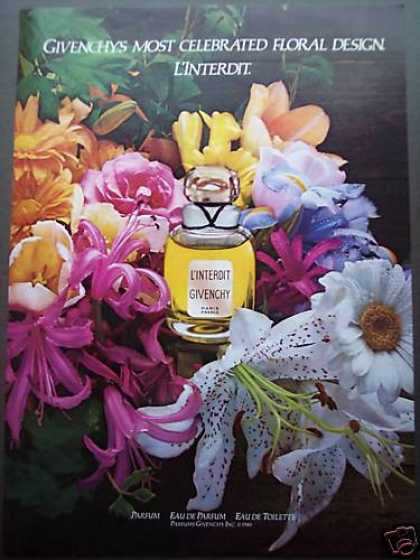 Givenchy L'interdit Flowers Photo Perfume (1980)