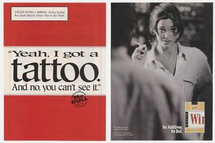 Winston Lady Smoking Can't See Tattoo (1999)