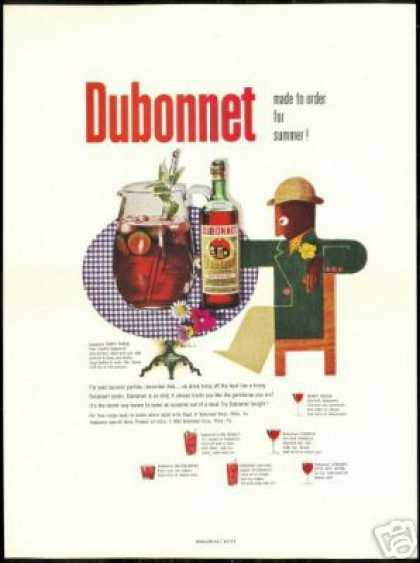 Dubonnet Wine Summer Recipes Paul Rand Art (1954)