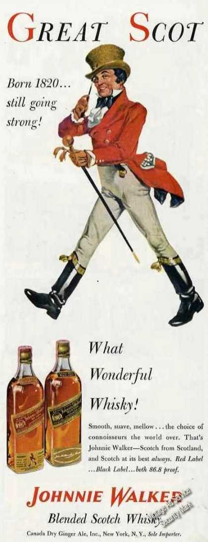 Johnnie Walker Art What Wonderful Whiskey (1953)