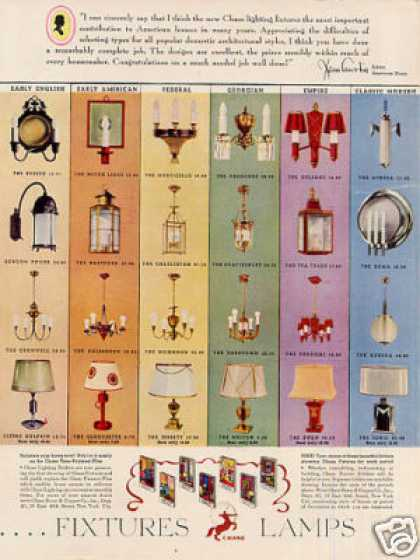Chase Fixtures & Lamps Color (1934)