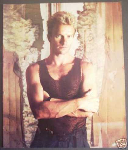 Original Sting Promo Magazine Photo (1984)