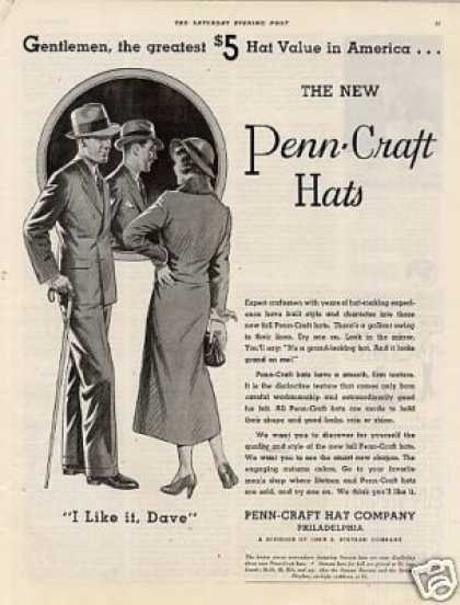 Penn-craft Hats (1934)